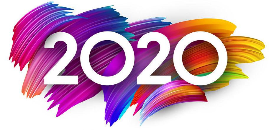 2020年カードカラフルなデザイン